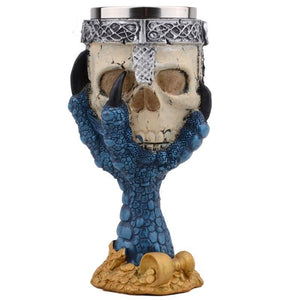 Stainless Steel Goblet Skull Head Skeleton Claw Wine Glass Beer Steins Drinking Glass Whiskey Cup - Cozzoo