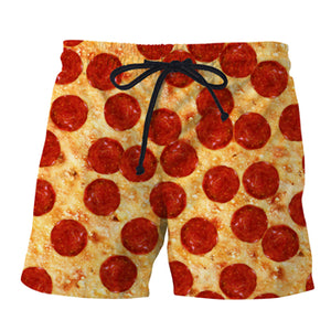 Mens Swim Trunks Collection - Pepperoni Pizza, Bacon, Pineapple, Donuts, Candy, Ice Cream, Beer, Burger - Swimming Shorts Bathing Suits - Cozzoo
