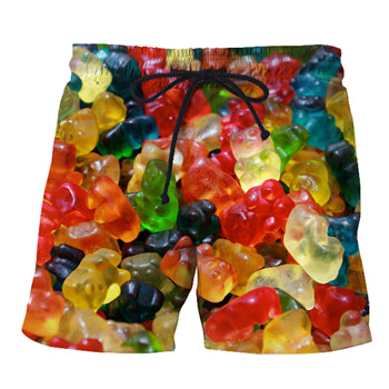 Mens Swim Trunks Collection - Pepperoni Pizza, Bacon, Pineapple, Donuts, Candy, Ice Cream, Beer, Burger - Swimming Shorts Bathing Suits Swimwear - Cozzoo