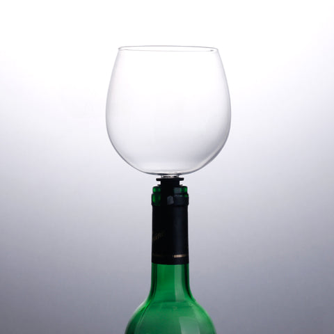 Plug Insert Wine Glass On Bottle Cute Drinking Wine Glasses Champagne Cocktail Glass Goblets - Cozzoo