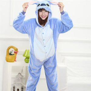 Cute Adult Women Animal Pajama Costume Adult Hoodie Onesie - Cozzoo