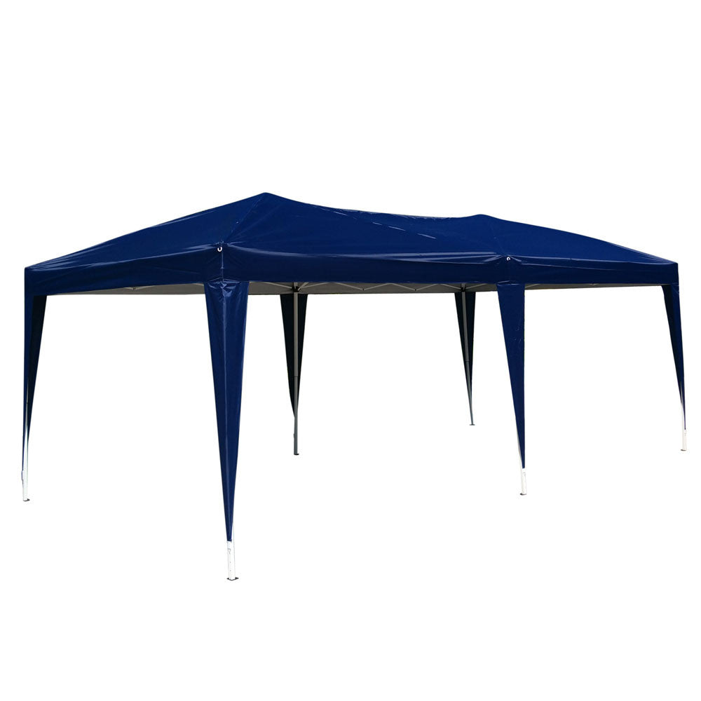 10'x 20' Easy Outdoor Pop Up Gazebo Canopy Cover Wedding Party Tent No Walls - Cozzoo