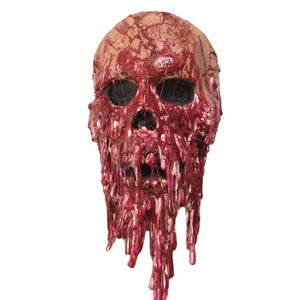 Halloween Horror Masks Haunted Houses Ghost Holes Blood Drops Latex Masks Film And Television Props Thriller Skull Head Supply - Cozzoo
