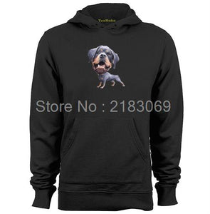 Rottweiler Big Head Small Body Mens & Womens Long Sleeve Lovely Funny Hoodies Sweatshirts - Cozzoo