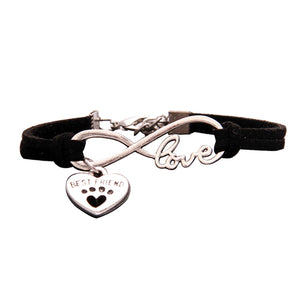 Best Friend Jewelry - BFF - Friendship - Pet Dogs Heart Infinity Charm Bracelets - Cozzoo