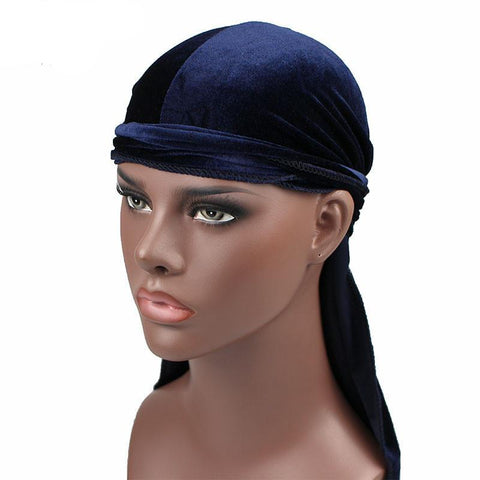 Navy Blue, Black, Red Collection Velvet Durags - Cozzoo
