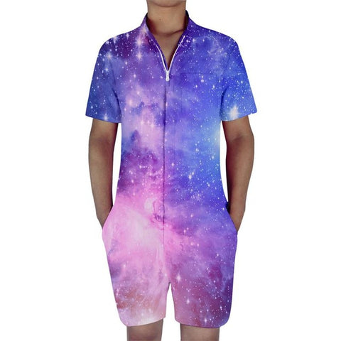 Galaxy Space Stars All Over Print Mens Romper - Cozzoo