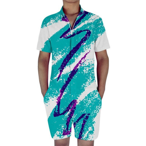Paper Cup Solo Cup Rompers For Men 90s Jazz Solo All Over Print - Cozzoo