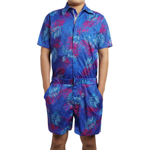 Plant Print Rompers Men All Over Print - Cozzoo