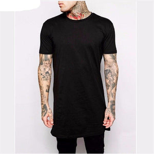 Polyester / Cotton Men Longline Shirts Extra Long Oversized Tall Tees - Cozzoo
