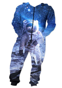 The Astronaut Funny Adult Onesie Pajamas Jumpsuit Men's Women's - Cozzoo