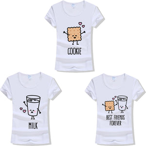 Cookie & Milk Best Friends Forever T-shirt - Pair Matching Tees - Cozzoo