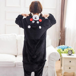Black Bear Adult Pajamas Adult Hoodie Onesie Costume - Cozzoo