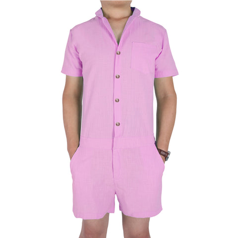 Men's Rompers Solid Colors Zipper Buttons - Cozzoo