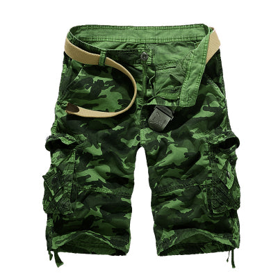 Red Camouflage Cargo Shorts - Cozzoo