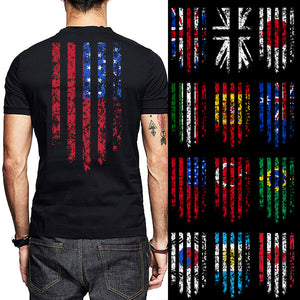 USA Australia Japan Korea Brazil Canada Turkey Argentina Spain Italy  Country Flag T-Shirts - e291e4e15a8b