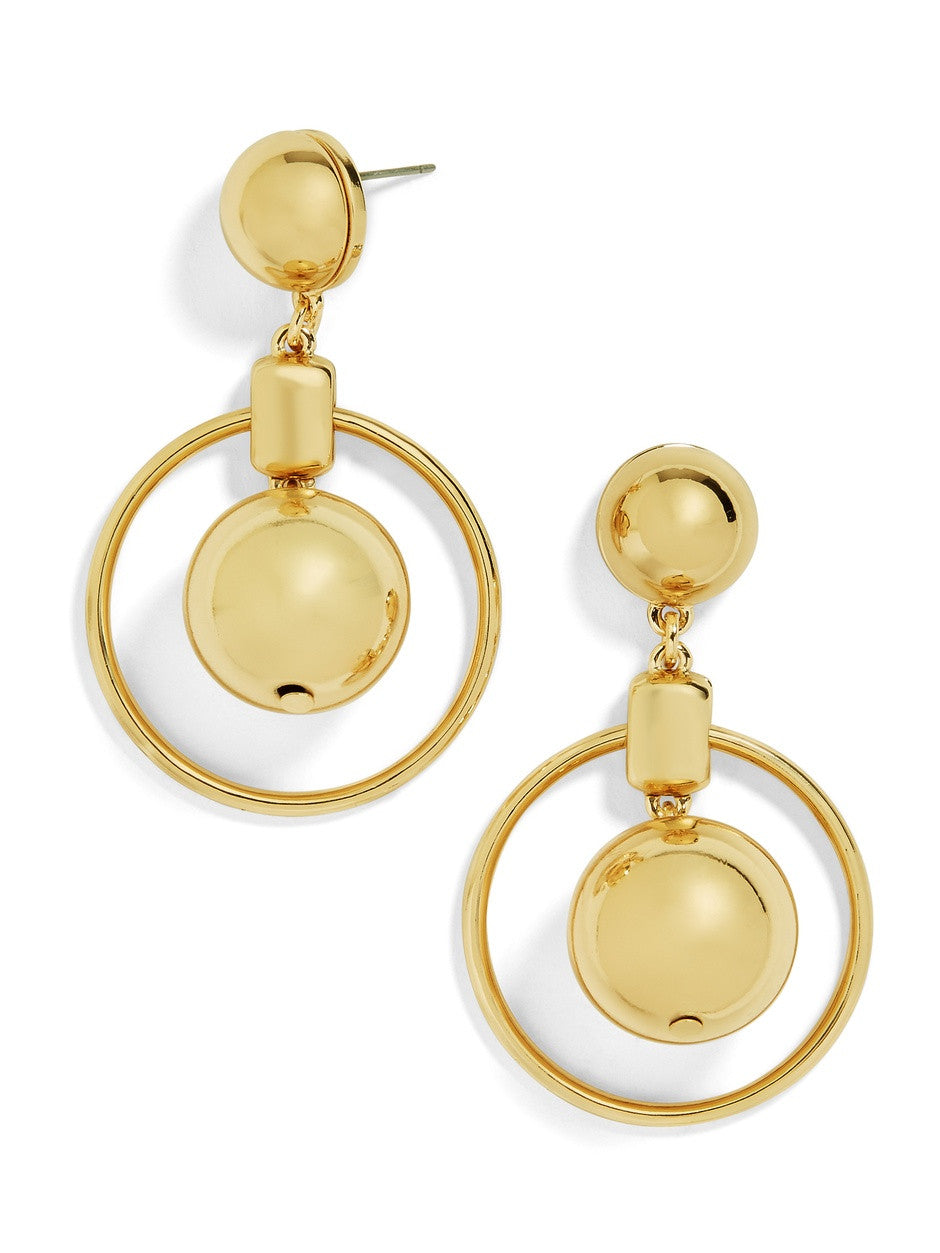 18K Gold Plated Geo Drop Earring - Cozzoo