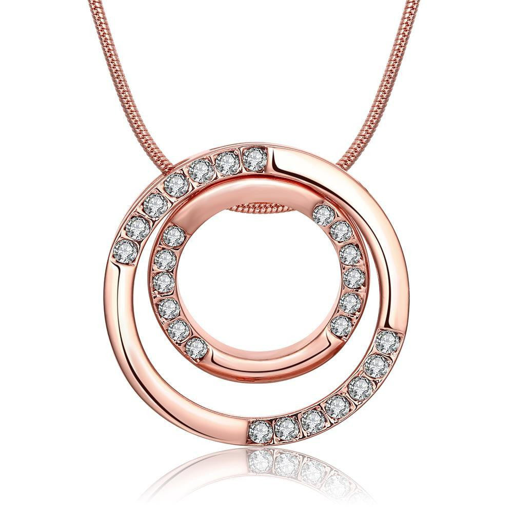 18K Rose Gold Plated Geometric Necklace - Cozzoo