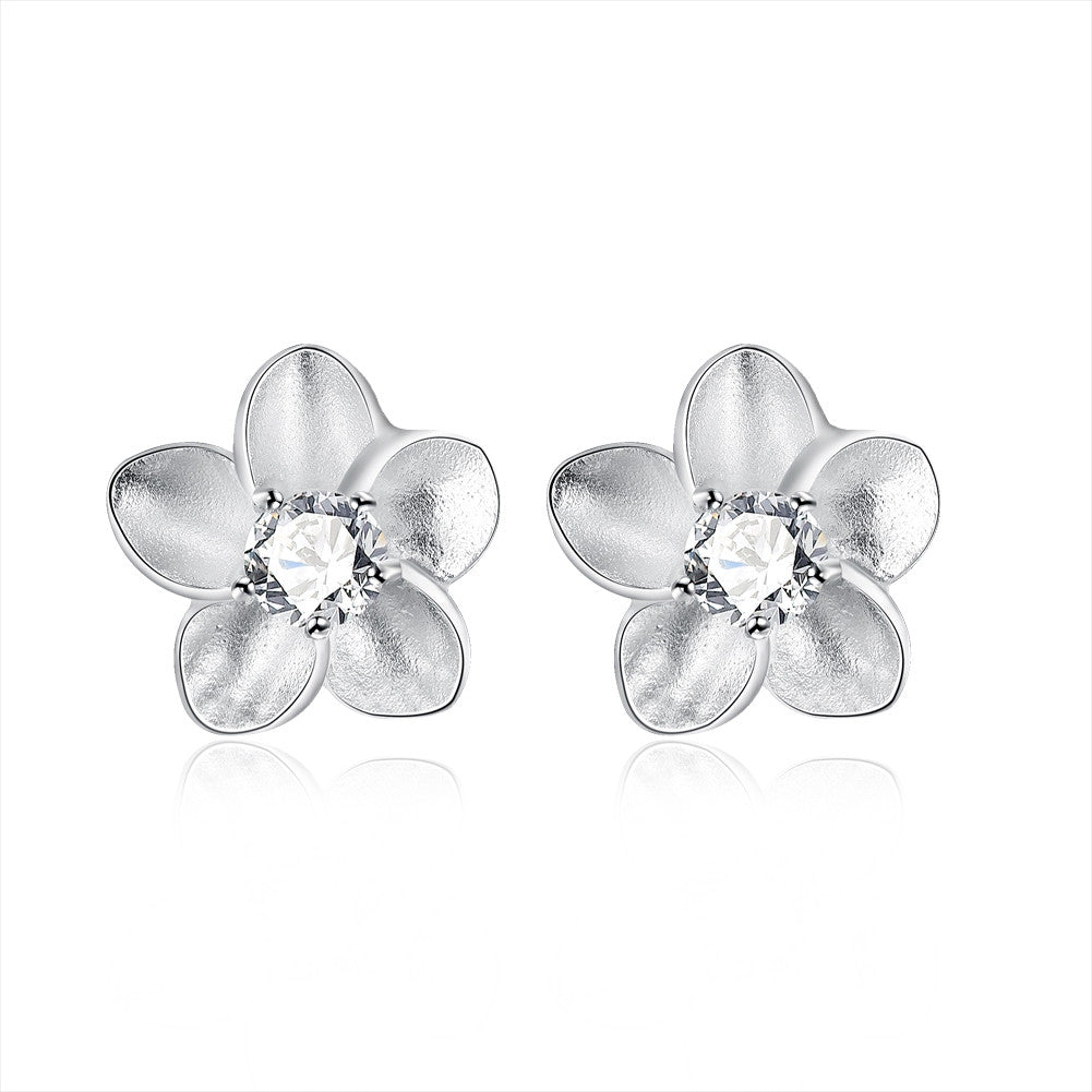 18K White Gold Plated Blossoming Ivory Floral - Cozzoo