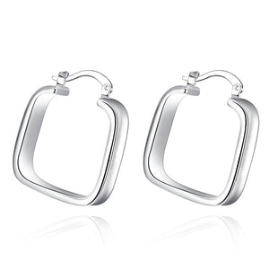 18K White Gold Plated Ancient Rome Inspired Earring - Cozzoo