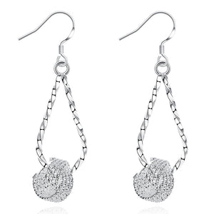 18K White Gold Plated Fish Shaped Inspired Earring - Cozzoo