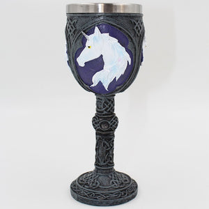 Stainless Steel Gothic Goblet Unicorn Cute Drinking Wine Glasses Champagne Cocktail Glass Goblets - Cozzoo
