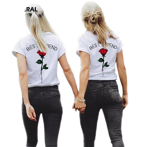 Best Friends - Rose - Pair Matching T-shirts - Cozzoo