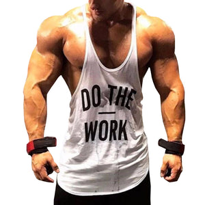 Do The Work Bodybuilding Sleeveless Workout Tank Tops - Cozzoo