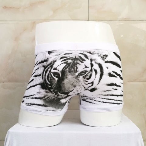 Black And White Tiger - Men's Boxer Shorts Underwear - Cozzoo