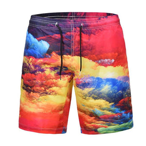 Colorful Clouds Men's Swimming Shorts - Beach Trunks - Cozzoo