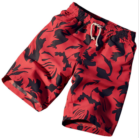 Red Summer Beach Shorts - Cozzoo