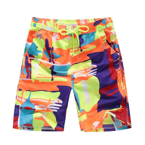 Abstract Colors Summer Beach Shorts - Cozzoo