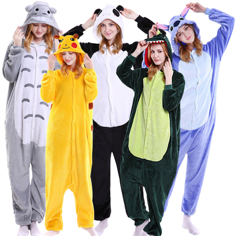 Animal Pajamas Adult Hoodie Onesie - Cozzoo