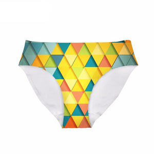 Yellow Colored Triangle - Women's Underwear Panties - Cozzoo