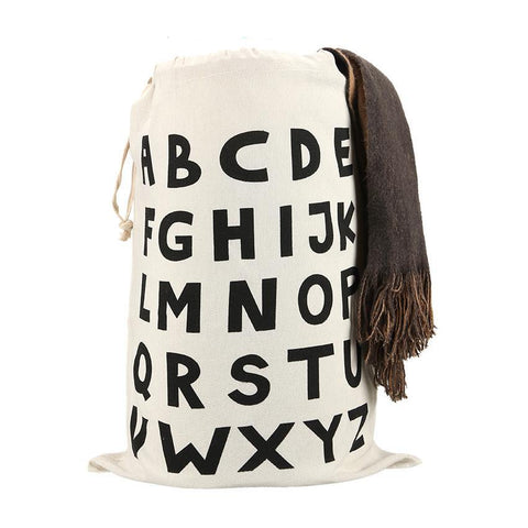 Alphabet ABC Drawstring Bags Cinch String Backpack - Cozzoo
