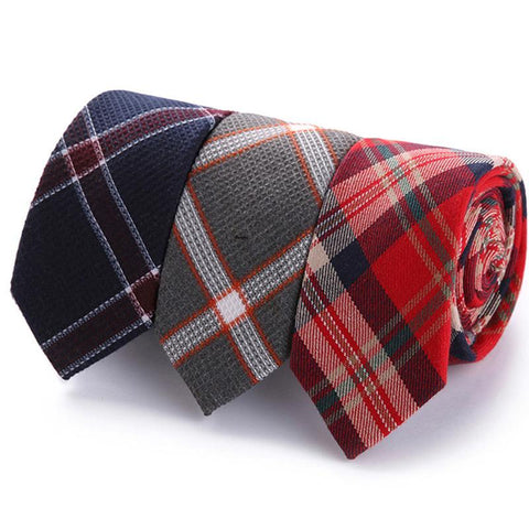 Neckties Plaid Tartan Suit Bowknots Ties Male Skinny Slim Ties - Cozzoo