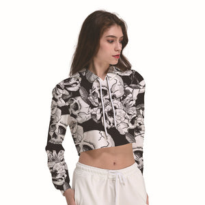 Women's Crop Top Hoodie Sweater - Cozzoo