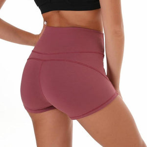 Merlot Red Green & More Women Gym Compression Booty Shorts Spandex Ladies Volleyball Running lycra Athletic - Cozzoo