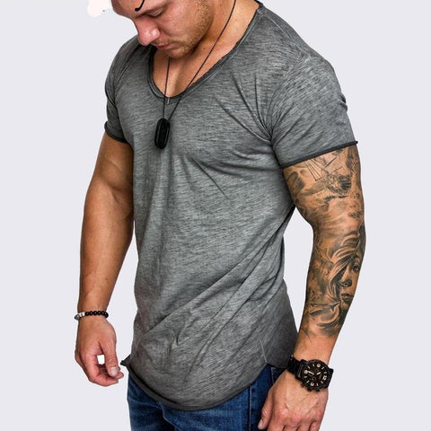 Polyester Men Longline Shirts Extra Long Oversized Tall Tees - Cozzoo