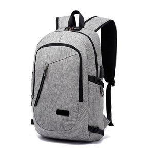 Anti-theft Waterproof Travel Backpack With USB Recharging Function - Cozzoo
