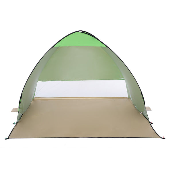 (120+60)*150*100cm Outdoor Automatic Instant Pop-up Portable Beach Tent Anti UV Shelter Camping Fishing Hiking Picnic - Cozzoo