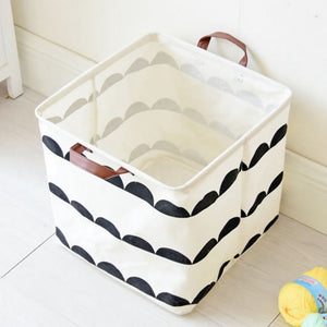 Upscale Home decoration Bathroom Dirty Clothes Laundry Storage Buckets box Bag Kids Toy Cotton Linen Foldable  Storage Basket - Cozzoo
