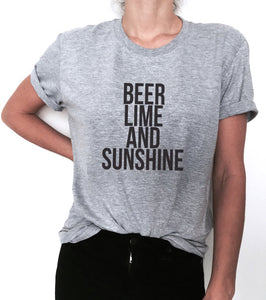 Beer lime and sunshine - Women Drinking T-Shirt - Cozzoo