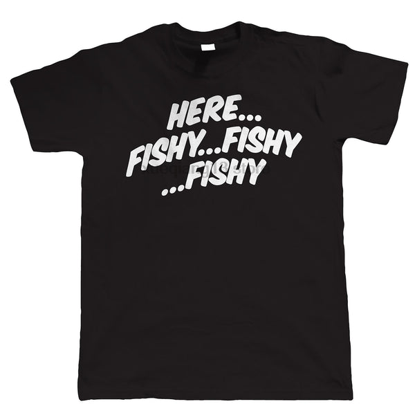 Here Fishy Fishy Fishy T-Shirts - Men's Tee - Cozzoo