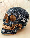 0360004- Big Huichol Beaded Skull