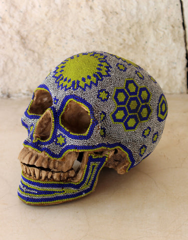 Small Huichol Beaded Skull