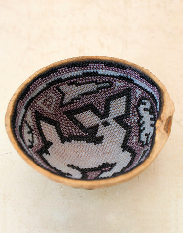 Huichol Beaded Jicara