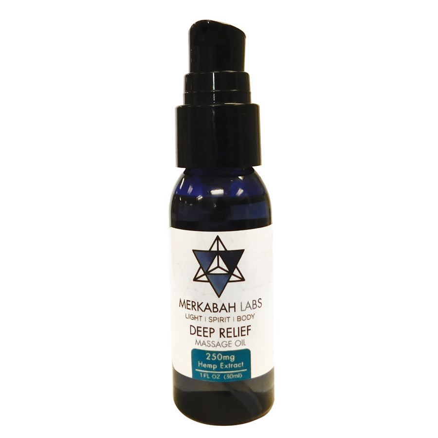 2 FL OZ Deep Relief Massage Oil including 250mg Hemp Extract