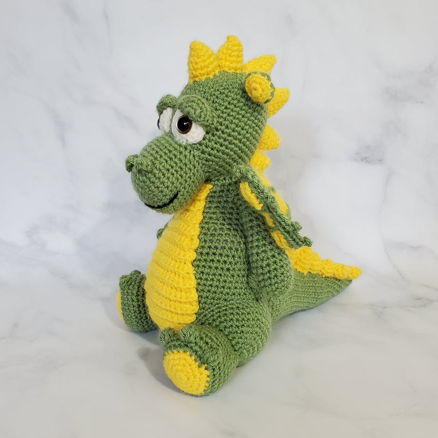 Dragon with Horn Plush Toy - 11 Inches
