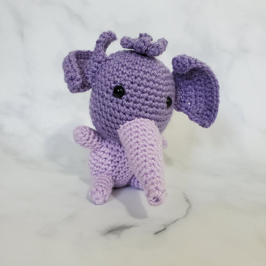 Elephant Plush Toy in Purple - 5 Inches